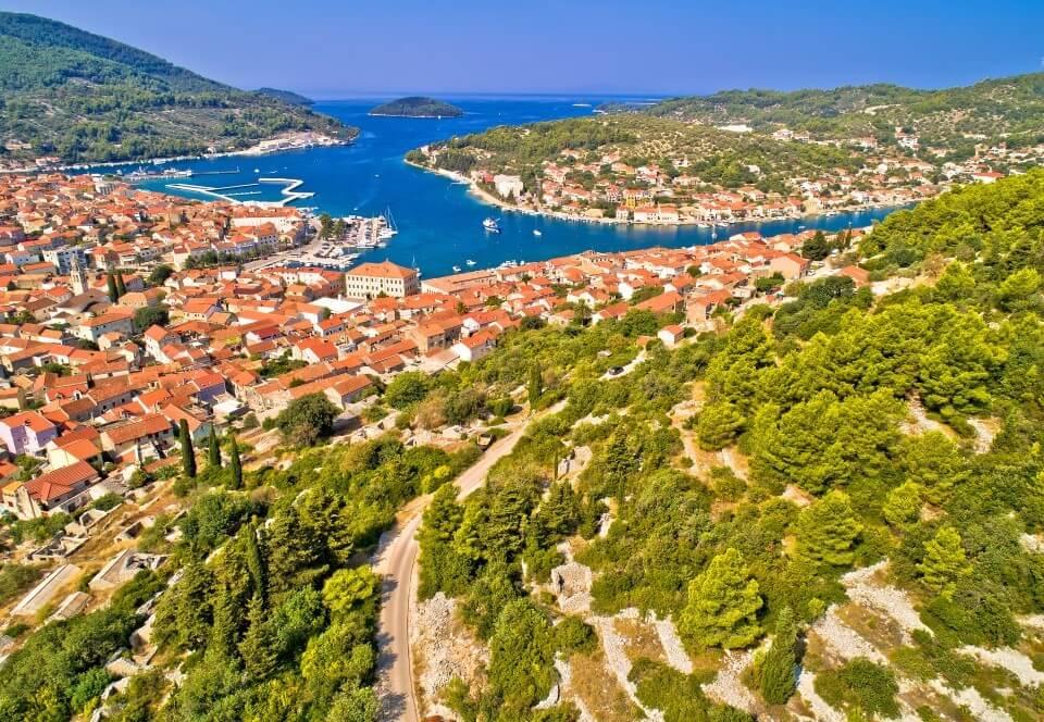 Paket aranžman Korčula - pogled iz zraka